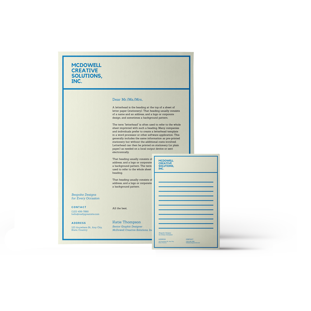 Printed Business Stationery - Exacta Print