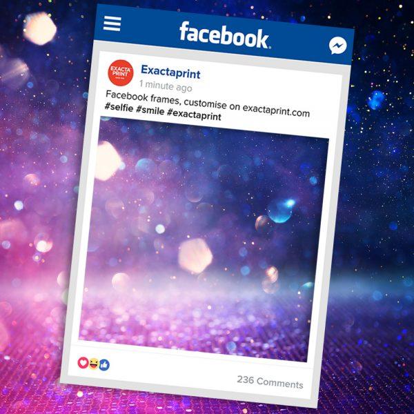Facebook selfie prop frame