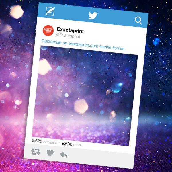 Twitter selfie prop frame