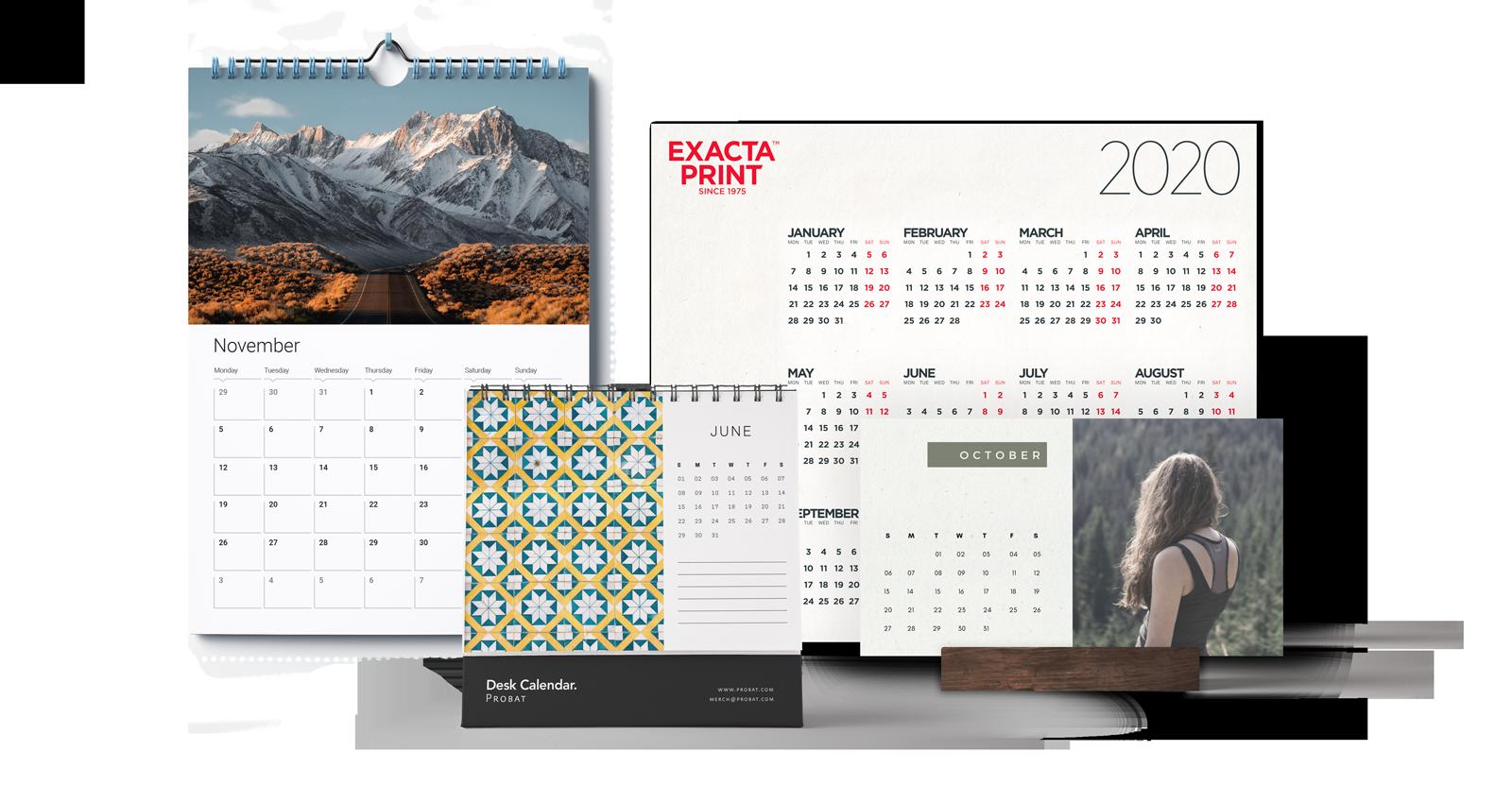 Exacta Print - Selected calendars