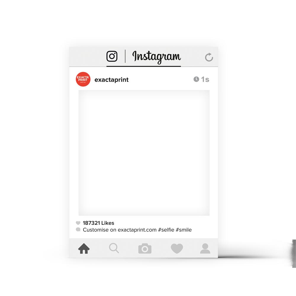 Social Media Selfie Frame - Exacta Print